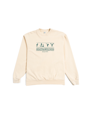 Sporty & Rich Health and Wellness Crewneck Cream Puff