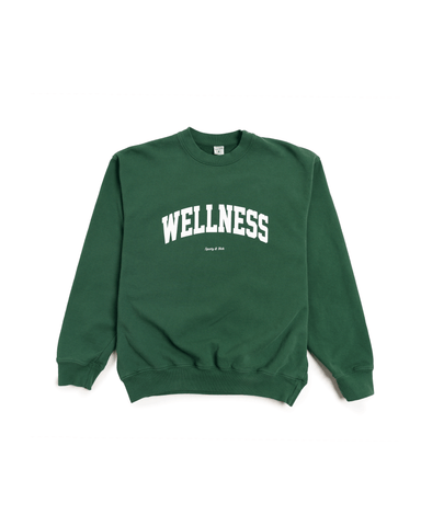 Sporty and Rich Wellness Ivy Crewneck British Racing Green