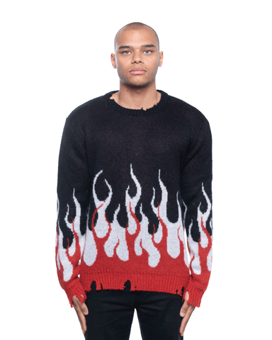 Vision Of Super Double Flamez Knitwear Black