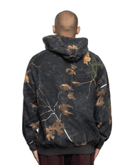 Awake NY Classic Outline Logo Panelled Embroided Hoodie Real Tree