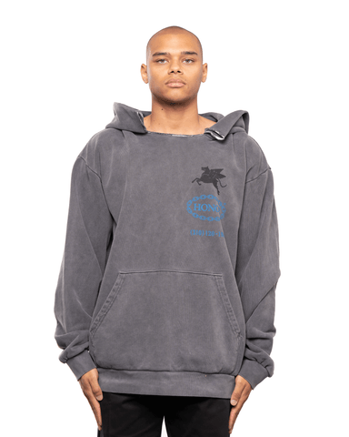 Honor The Gift Hellhound Towing Hoodie Vintage Wash