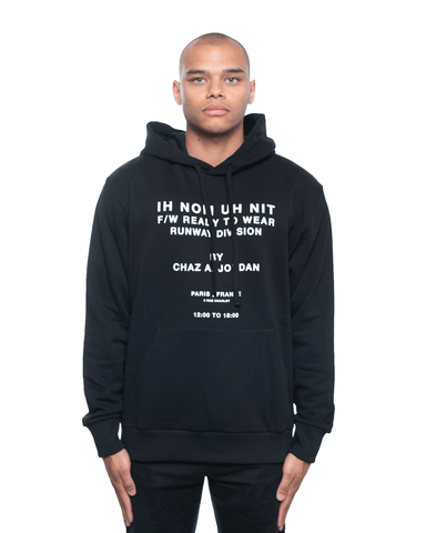 Ih Nom Uh Nit Runway Division 20 and Quote Hoodie Black
