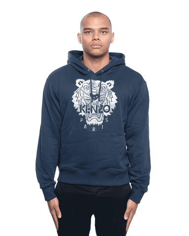 Kenzo Stitched Tiger Hoodie Navy