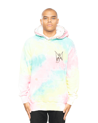 MJB Tie Dye Double Hoodie Yellow/Pink/Blue
