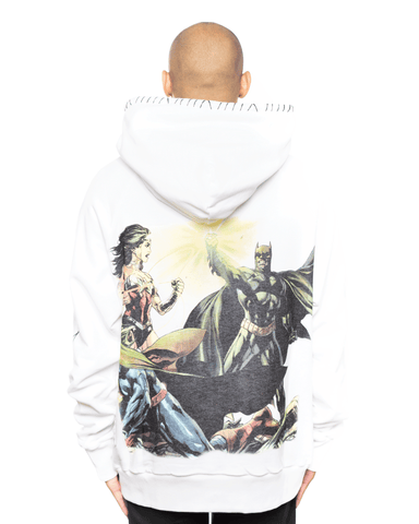 MJB x Justice League Double Hoodie White