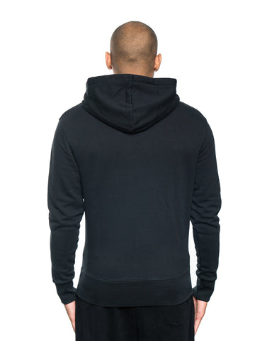 Maison Kitsune Velvet Fox Head Patch Hoodie Black
