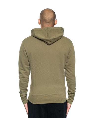 Maison Kitsune Velvet Fox Head Patch Hoodie Khaki