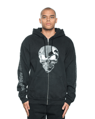 Noon Goons Chrome Zip Hoodie Black
