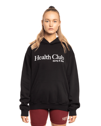 Sporty and Rich Health Club Hoodie Black