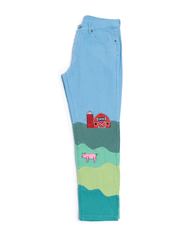 KidSuper Farm Landscape Trousers Blue
