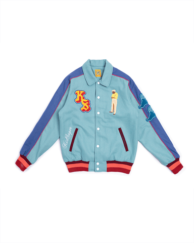 KidSuper Neighborhood Champions Varsity Jacket Teal