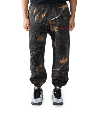 Awake NY Classic Outline Logo Panelled Embroided Sweatpants Real Tree