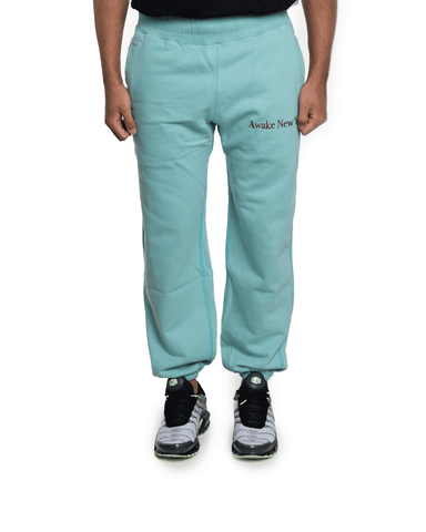 Awake NY Classic Outline Logo Panelled Embroided Sweatpants Teal
