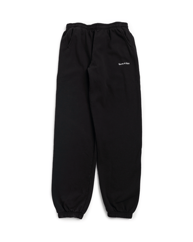 Sporty and Rich Classic Logo Sweatpants Black