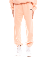 Sporty and Rich Serif logo Sweatpants Peach Pie