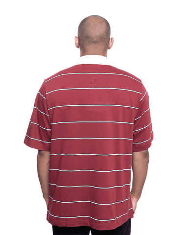 Kenzo Oversized Striped Polo Carmine