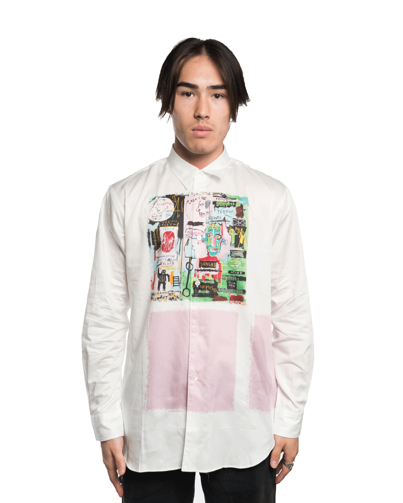 CDG SHIRT x Basquiat W26044BIS Shirt White