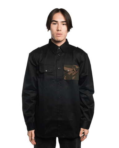 Gosha Rubchinskiy Made in France Camo Pocket Shirt Black