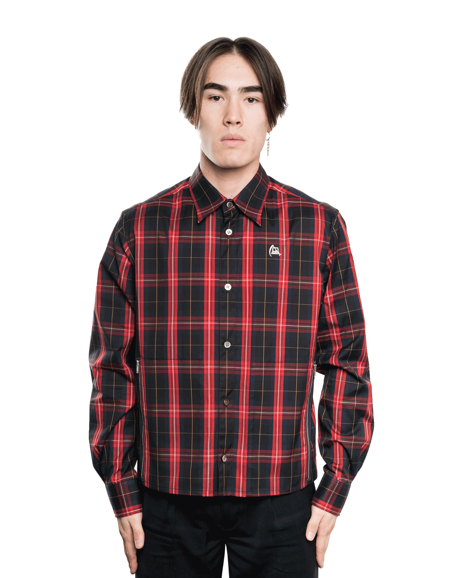 Undercover UCW4404 Shirt Navy Check