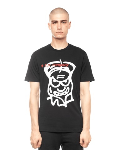 C.P. Company Jersey 20/1 Cartoon Graphic Tee Black