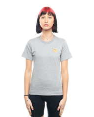 CDG PLAY AZ-T215-051 Womens Gold Heart Patch Tee Grey