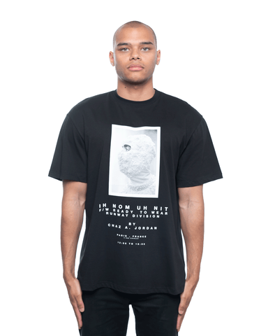 Ih Nom Uh Nit Mask and Lim Ed Quote Relaxed Tee Black