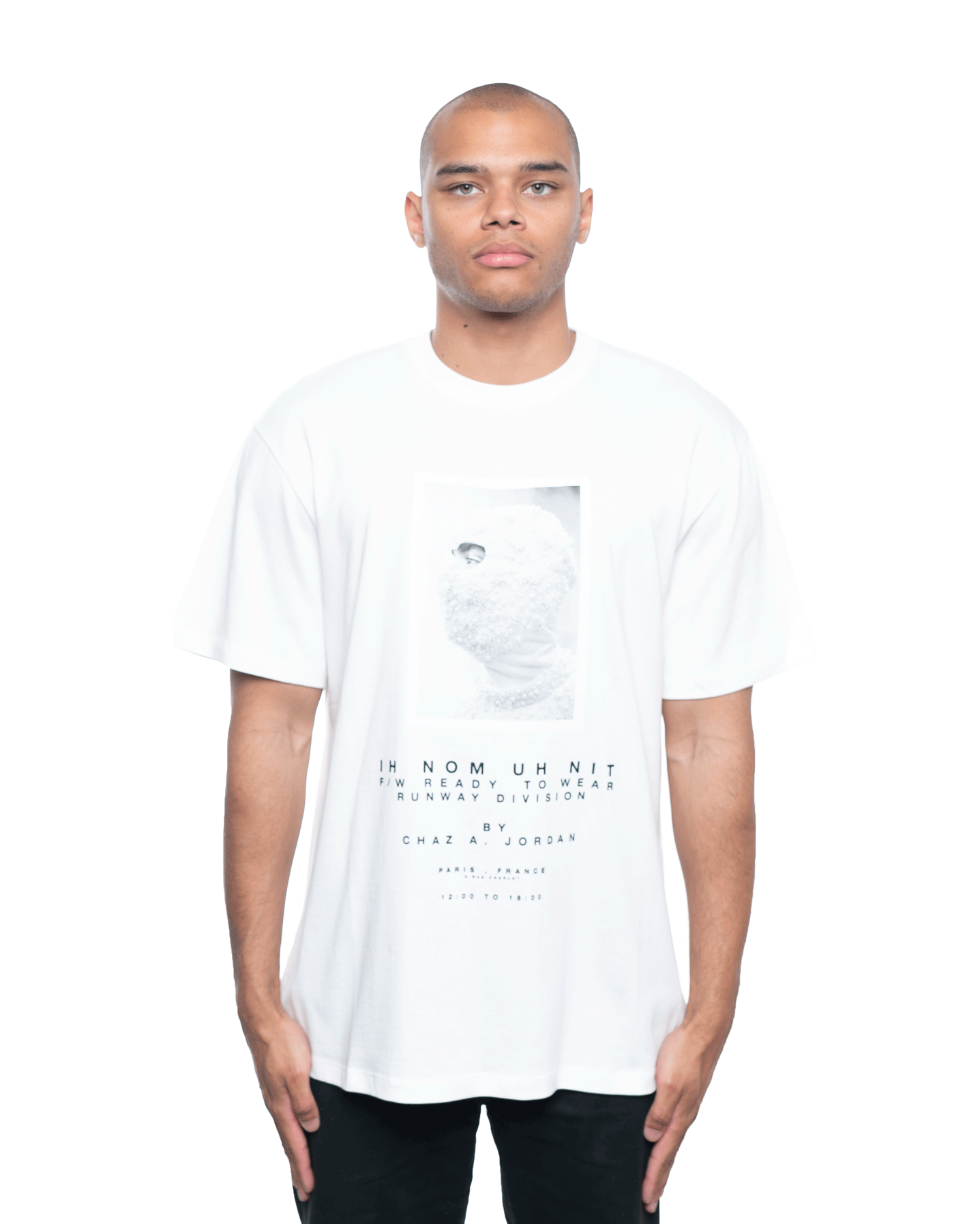 Ih Nom Uh Nit Mask and Lim Ed Relaxed Quote Tee Off White