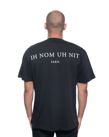 Ih Nom Uh Nit Mask20 and Logo Relaxed Tee Black