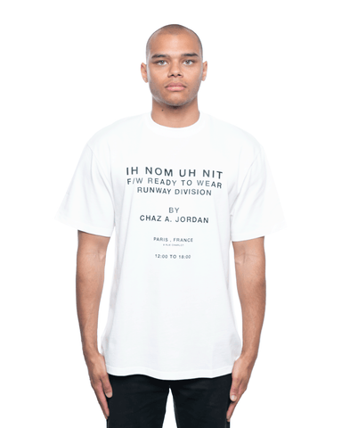 Ih Nom Uh Nit Runway Division 20 and Quote Relaxed Tee Off White