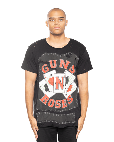 MJB Vintage Guns N Roses Upcycled Tee Black