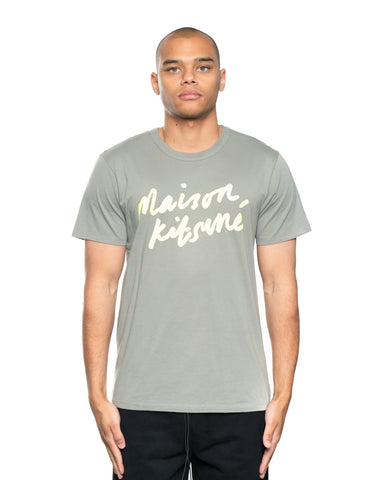Maison Kitsune Handwriting Tee Dark Grey