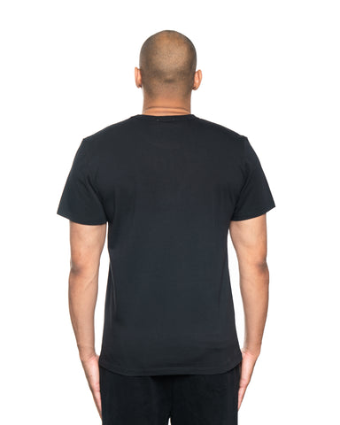 Maison Kitsune Velvet Fox Head Patch Tee Black