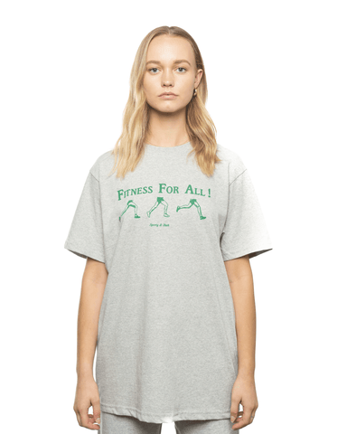 Sporty and Rich Fitness For All Tee Heather Grey