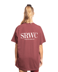 Sporty and Rich Upper East Side Tee Merlot