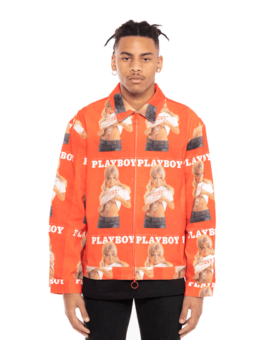 Soulland x Playboy Terry Jacket Red