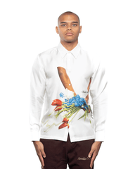 Awake NY Flowers Silk Shirt White