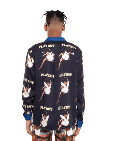 Soulland x Playboy Jean Shirt Navy