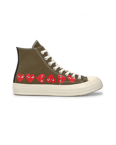 CDG PLAY x Converse CT70 Multi Hi Top Khaki