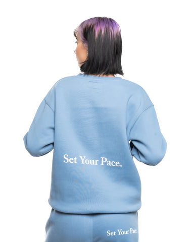 Alreis Set Your Pace Crewneck Blue