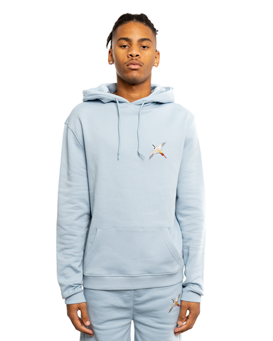 Axel Arigato Single Tori Bird Hoodie Pale Blue