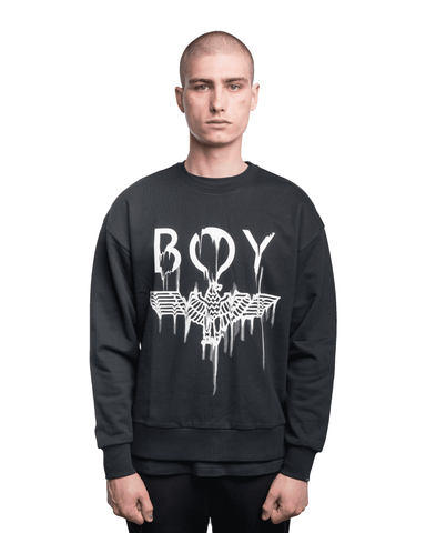 Boy London Melt Crewneck Black