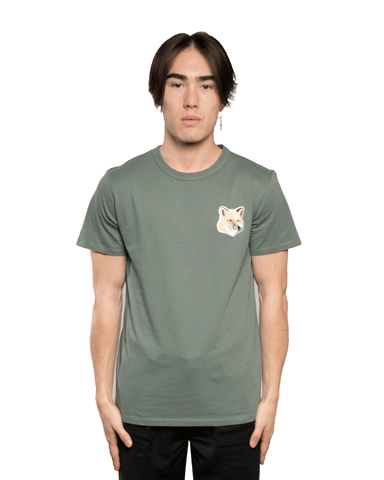 Maison Kitsuné Big Pastel Fox Head Patch Tee Green