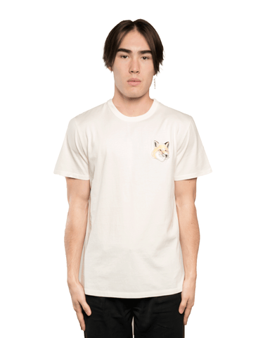 Maison Kitsuné Big Pastel Fox Head Patch Tee Off White