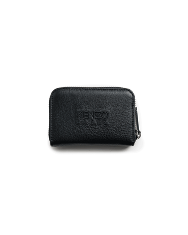 Kenzo Tiger Embroidered Coin Purse Black/Black