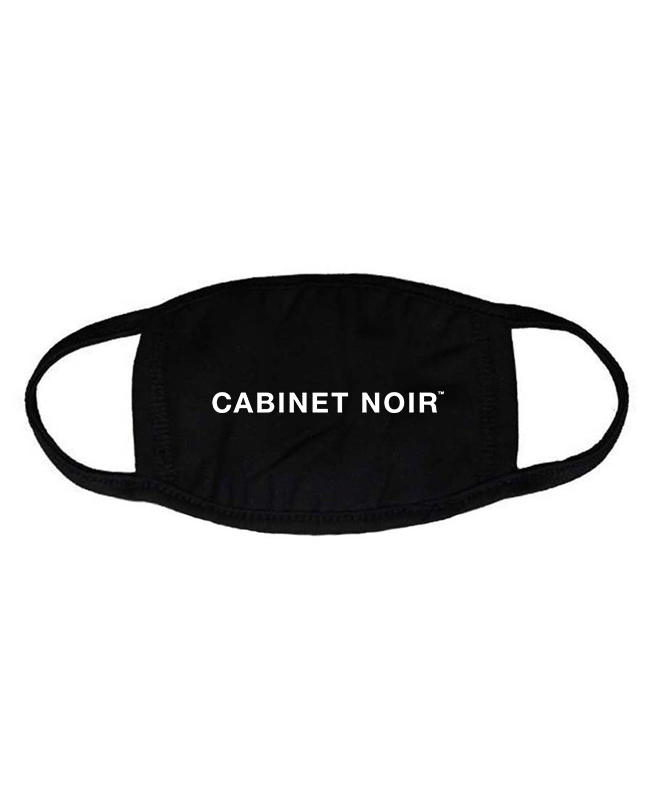 Cabinet Noir Logo Face Mask Black