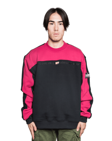 Alexander Wang Color Block Crewneck Black/Magenta