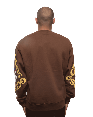 GCDS 3D Logo Crewneck Brown