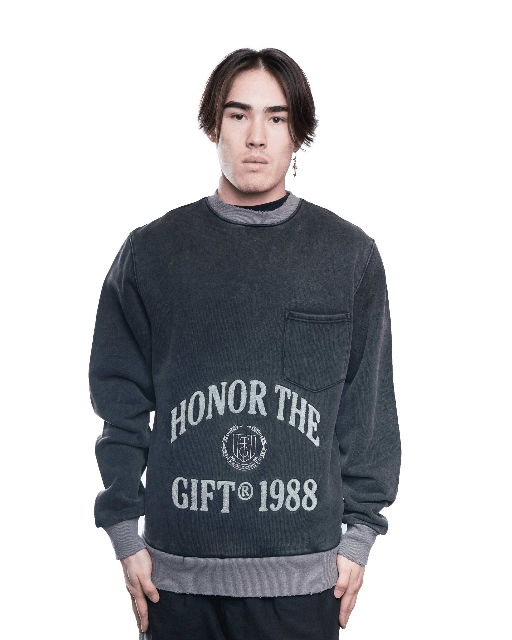 Honor The Gift 88 Logo Crewneck Black