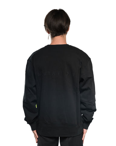 P.A.M Tuc Tuc Text Crewneck Black