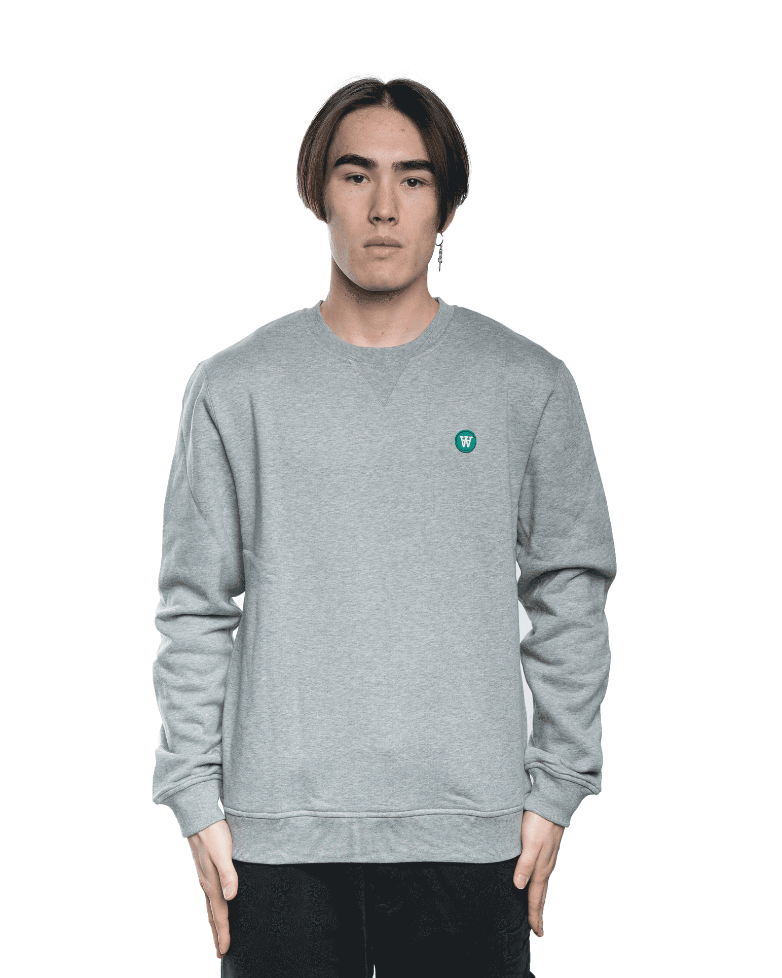 Wood Wood Tye Crewneck Grey